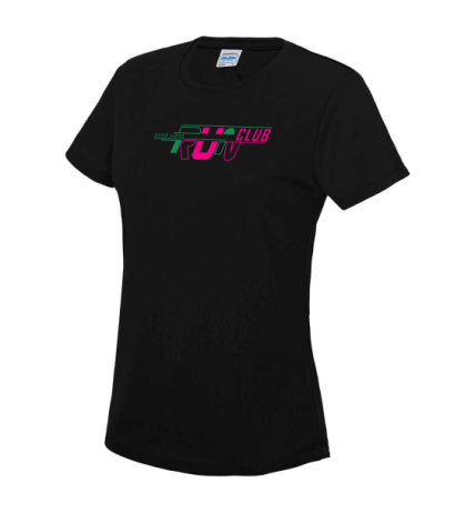 Oxted-ladies-black-tshirt-front
